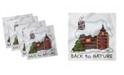 "Ambesonne Log Cabin Set of 4 Napkins, 18"" x 18"""