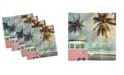 "Ambesonne Surf Set of 4 Napkins, 18"" x 18"""