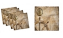 "Ambesonne Nautical Set of 4 Napkins, 18"" x 18"""
