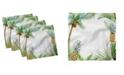 "Ambesonne Pineapple Set of 4 Napkins, 18"" x 18"""