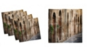 "Ambesonne Landscape Set of 4 Napkins, 18"" x 18"""