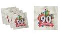 "Ambesonne 90th Birthday Set of 4 Napkins, 18"" x 18"""