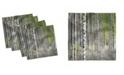 "Ambesonne Birch Tree Set of 4 Napkins, 18"" x 18"""