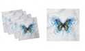 """Ambesonne Swallowtail Butterfly Set of 4 Napkins, 18"""" x 18"""""""
