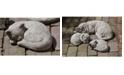 Campania International Curled Cat Small Garden Statue