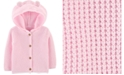 Carter's Baby Girls Hooded Cotton Cardigan Sweater