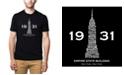 LA Pop Art Men's Premium Word Art T-shirt - Empire State Building