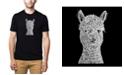 LA Pop Art Men's Premium Word Art T-shirt - Alpaca