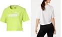 Puma Women's Cotton Cropped Logo T-Shirt