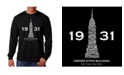 LA Pop Art Men's Word Art - Empire State Building Long Sleeve T-Shirt