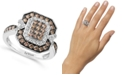 Le Vian Chocolate Diamond (3/4 ct. t.w.) & Nude Diamond (1/3 ct. t.w.) Ring in 14k White Gold