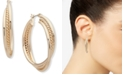 Anne Klein Gold-Tone Medium Triple-Row Hoop Earrings, 1.5""