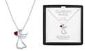 """Macy's Lab-Created Ruby (1/3 ct. t.w.) & Diamond Accent Angel Pendant Necklace in Sterling Silver, 16"""" + 2"""" extender"""