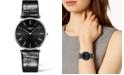 Longines Women's Swiss La Grande Classique De Longines Black Alligator Leather Strap Watch 36mm