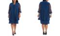 R & M Richards Plus Size Embellished Dress & Jacket