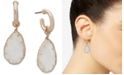 lonna & lilly Gold-Tone Mother-Of-Pearl Shaky Charm Hoop Earrings