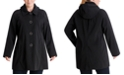 London Fog Plus Size Single-Breasted Hooded Raincoat