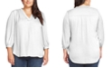 Vince Camuto Plus Size V-Neck 3/4-Sleeve Blouse