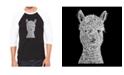 LA Pop Art Alpaca Men's Raglan Word Art T-shirt