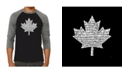 LA Pop Art Canadian National Anthem Men's Raglan Word Art T-shirt