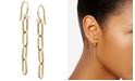 AVA NADRI Cubic Zirconia Oval Link Linear Drop Earrings