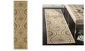 "Martha Stewart Collection Ogee Dot MSR4532B Tan 2'3"" x 8' Runner Rug"