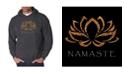 LA Pop Art Men's Word Art Hooded Sweatshirt - Namaste
