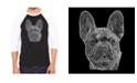 LA Pop Art Men's Raglan Word Art T-shirt - French Bulldog