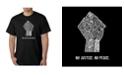 LA Pop Art Men's No Justice, No Peace Word Art T-Shirt