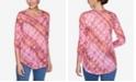 Ruby Rd. Plus Sizes Women's Geo Diagonal Stripe Top