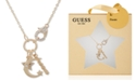 "GUESS Crystal Dream Multi-Charm 18"" Pendant Necklace"