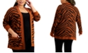 FULL CIRCLE TRENDS Trendy Plus Size Printed Cardigan