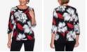 Alfred Dunner Women's Missy Knightsbridge Station Brushstroke Floral Knit Top