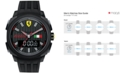 Ferrari Scuderia Men's Analog-Digital Aerodinamico Black Silicone Strap Watch 46mm 830123