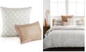 """Calvin Klein CLOSEOUT! 18"""" Square Embroidered Lattice Decorative Pillow"""