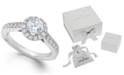 Marchesa Estate Halo by Certified Diamond Engagement Ring in 18k White Gold (1-1/4 ct. t.w.), Created for Macy's