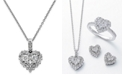 EFFY Collection EFFY® Diamond Heart Pendant Necklace in 14k White Gold or Rose Gold (5/8 ct. t.w.)