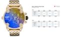 Diesel Men's Little Daddy Gold-Tone Stainless Steel Bracelet Watch 51mm DZ7347