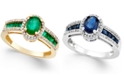 Macy's Emerald (1-1/3 ct. t.w.) and Diamond (1/4 ct. t.w.) Ring in 14k Gold (Also in Sapphire & Certified Ruby)