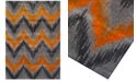 Dalyn CLOSEOUT! Modern Abstracts Chevron Tangerine Area Rugs