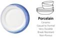 Lenox Indigo Watercolor Stripe Porcelain Dinner Plate, Created for Macy's
