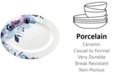 Lenox Indigo Watercolor Floral Porcelain Oval Platter, Created for Macy's
