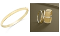 Macy's Solid Gold Polished Bangle Bracelet in 14k Gold