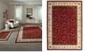 KM Home CLOSEOUT! Roma Damask Red 3-Pc. Rug Set