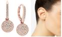 Eliot Danori Rose Gold-Tone Pavé Disc Drop Earrings, Created for Macy's