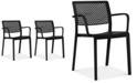 Furniture Trama Set of 2 Indoor/Outdoor Armchairs