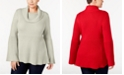 Style & Co Plus Size Cowl-Neck Bell-Sleeve Sweater, Created for Macy's