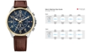 Tommy Hilfiger Men's Chronograph Casual Sport Brown Leather Strap Watch 46mm 1791275