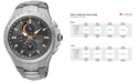 Seiko Men's Solar Chronograph Coutura Diamond Accent Stainless Steel Bracelet Watch 44mm SSC561