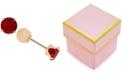 Macy's Children's Cubic Zirconia January Birthday Reversible Earrings in 14k Gold
